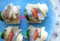 Канапе из сельди и овощей