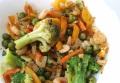 Креветки с овощным ассорти