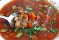 Овощной суп с цуккини и фасолью