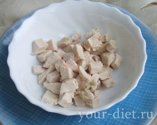 Куриное филе в тарелке