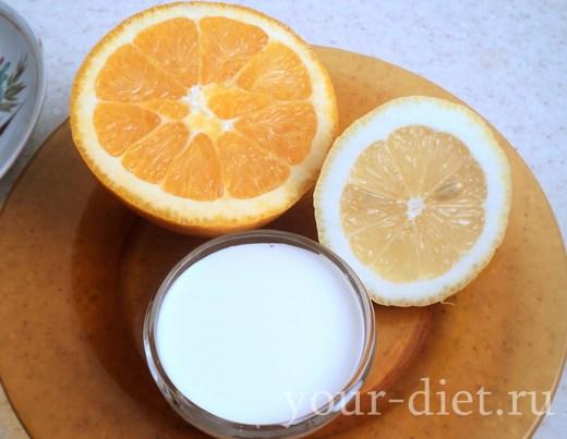 Апельсин, лимон и сливки