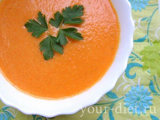 Сливочный суп с имбирем и морковью