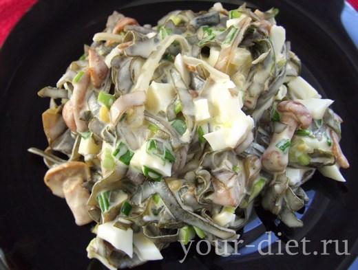 Закуска из морской капусты с грибочками