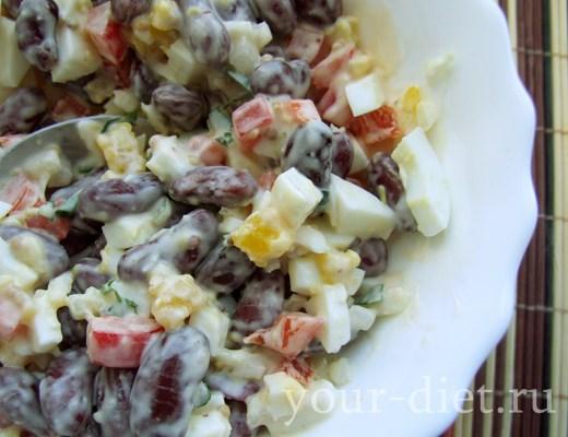 Фасолевый салат готов