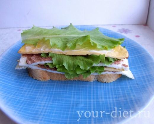 Посыпаем бутерброд зеленью и специями