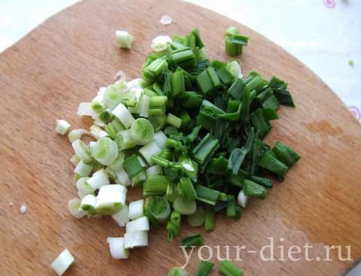 Нарубленный зеленый лук
