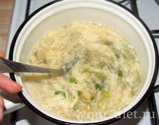 Варим яичный суп