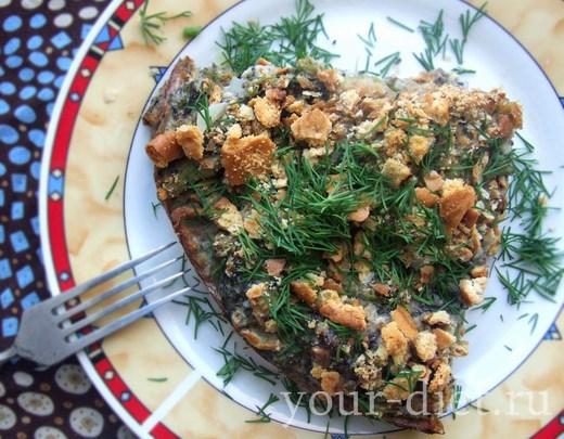 Запеканка с сыром и капустой брокколи готова
