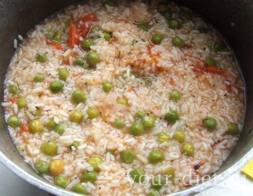 Варим рисово-овощную массу