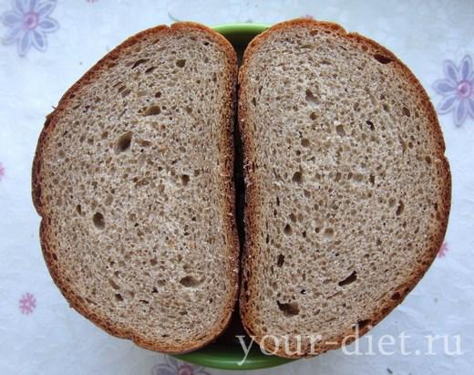 Хлеб на тарелке