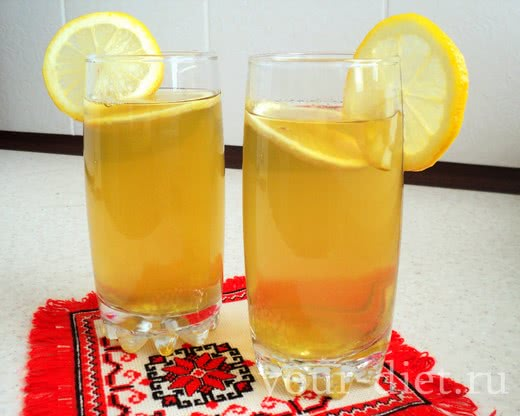 Зеленый чай с имбирем готов
