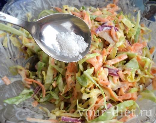 Добавляем в салат морскую соль