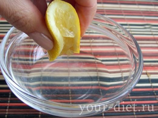 Лимонный сок с уксусом