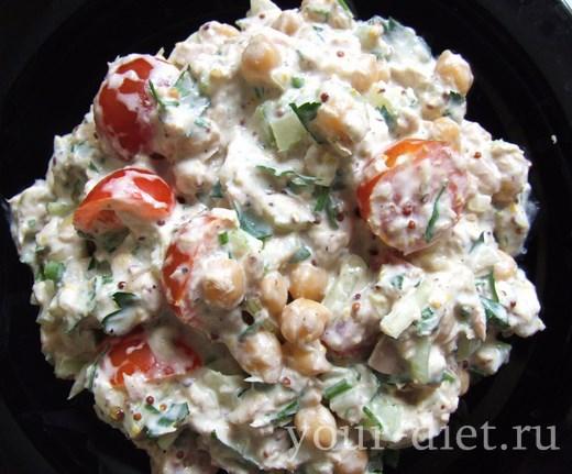 Салат из тунца с нутом