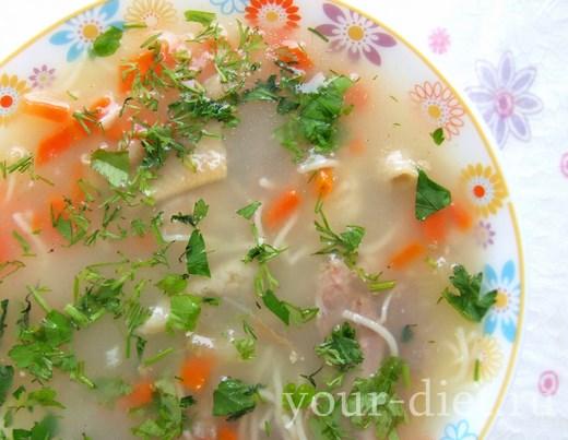 Овощной суп с цуккини и фасолью готов