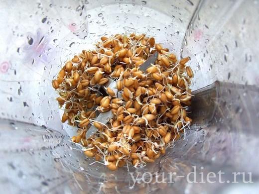 Пророщенная пшеница в блендере