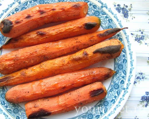 Жаренная морковь в оливковом масле