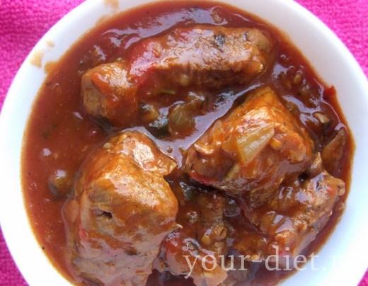 Мясо тушеное по-арабски