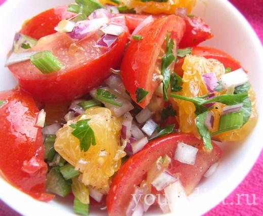 Салат из апельсинов и овощей