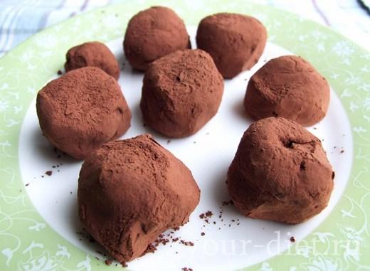 Шоколадные трюфели с лимоном