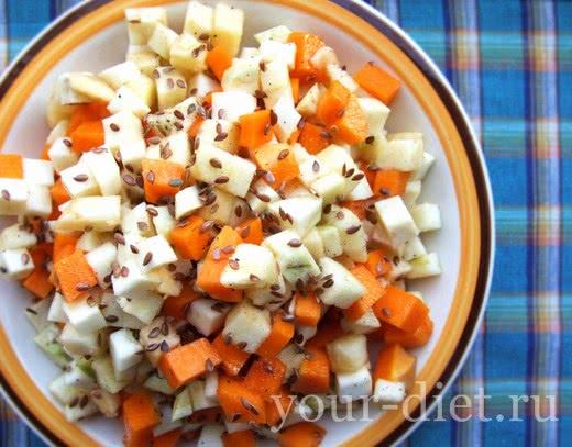 Салат с тыквой, яблоком и сельдереем