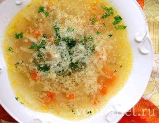 Быстрый вермишелевый суп