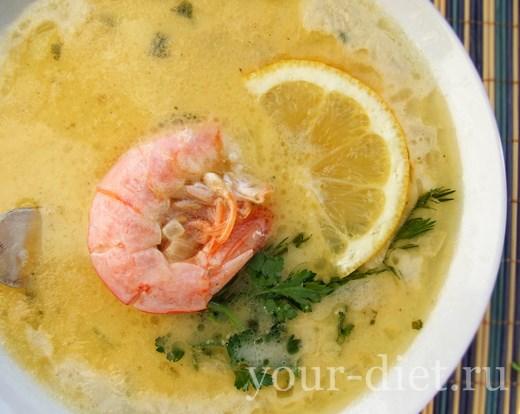 Суп-пюре «Дары моря»